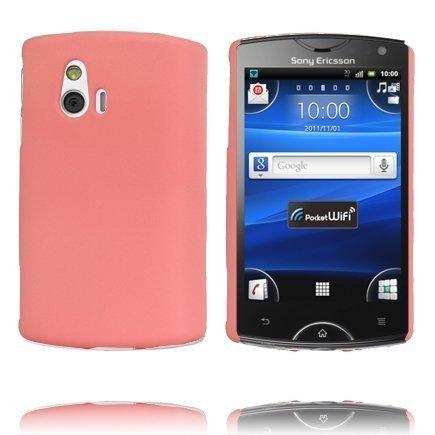Hard Shell Vaaleanpunainen Sony Ericsson Xperia Mini Suojakuori