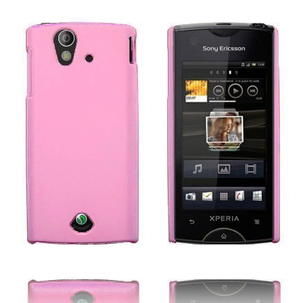 Hard Shell Vaaleanpunainen Sony Ericsson Xperia Ray Suojakuori