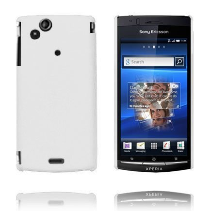 Hard Shell Valkoinen Sony Ericsson Xperia Arc Suojakuori