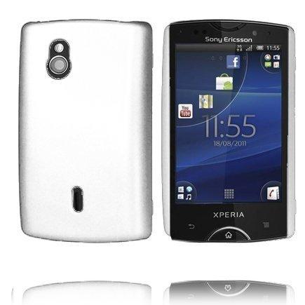 Hard Shell Valkoinen Sony Ericsson Xperia Mini Pro Suojakuori