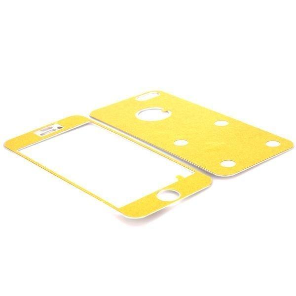 Harjattu Alumiini Iphone 5 Skin Kalvo Sarja Hopea