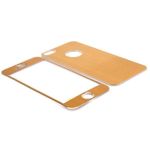Harjattu Alumiini Iphone 5 Skin Kalvo Sarja Kulta