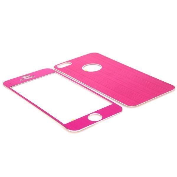Harjattu Alumiini Iphone 5 Skin Kalvo Sarja Kuuma Pinkki