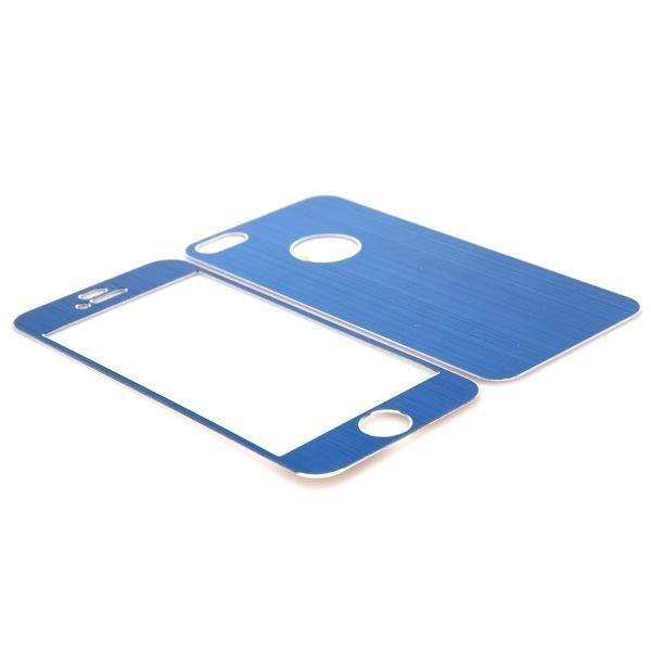 Harjattu Alumiini Iphone 5 Suojakalvo Sarja Sininen