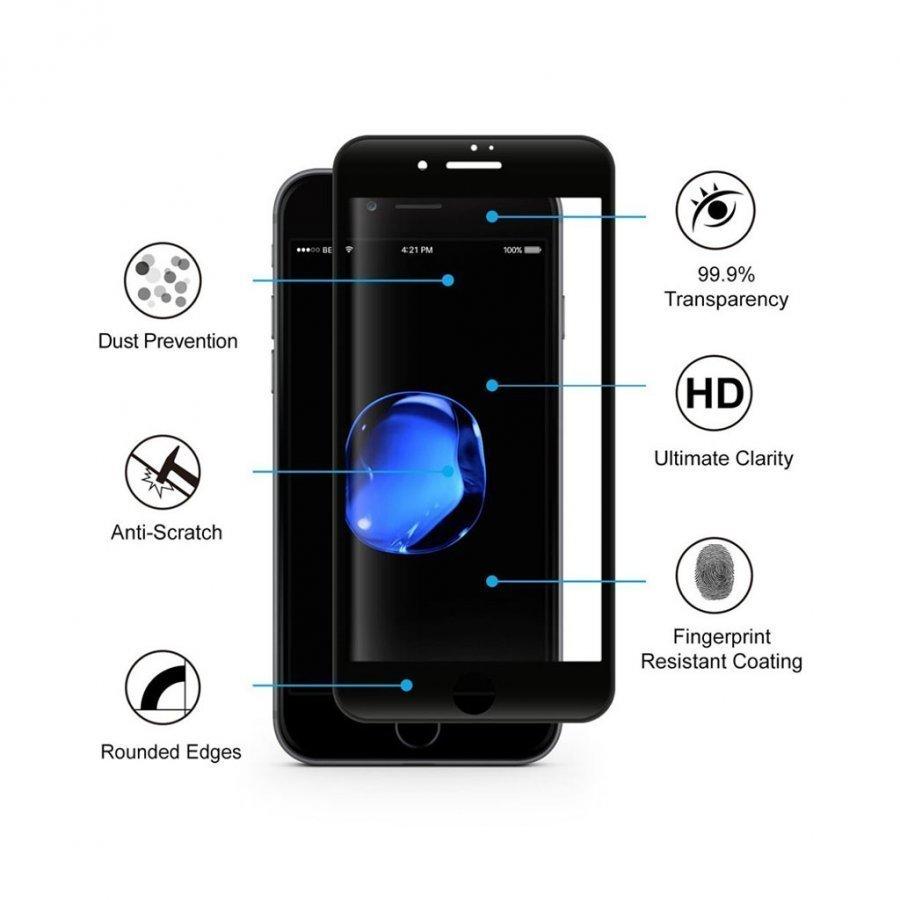 Hat Prince Iphone 7 Plus 0.2mm Karkaistu Lasi Näytönsuoja Musta
