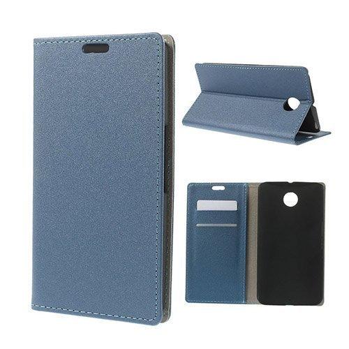 Heiberg Tummansininen Motorola Nexus 6 Nahkakotelo