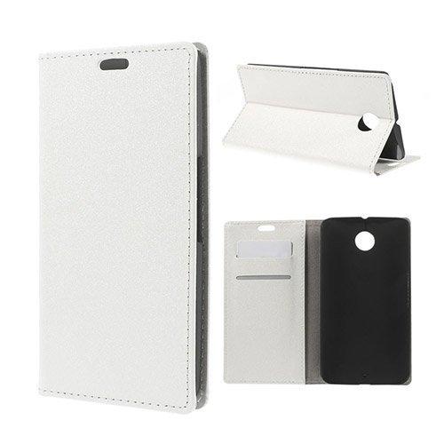 Heiberg Valkoinen Motorola Nexus 6 Nahkakotelo