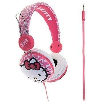 Hello Kitty HK0074 Leo Stereokuulokkeet Vaalenapunainen / Valkoinen