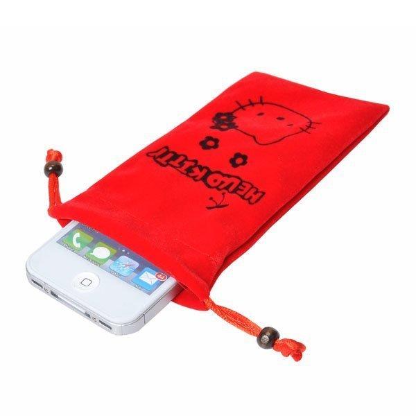 Hello Kitty Kännykkäpussi Punainen