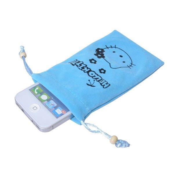 Hello Kitty Kännykkäpussi Vaaleansininen