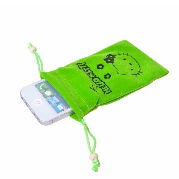 Hello Kitty Kännykkäpussi Vihreä