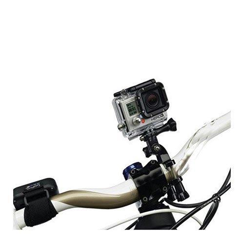 Helposti Säädettävä Pyörän Ohjaustangon Teline Gopro Kameralle Musta