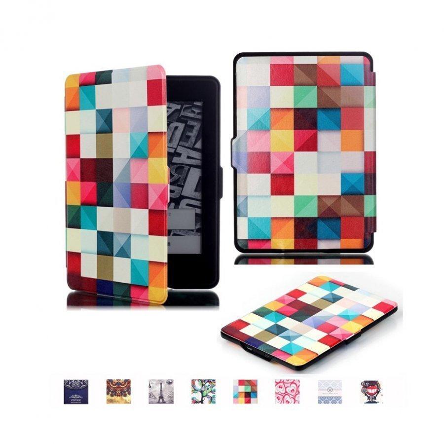 Holberg Amazon Kindle Paperwhite Älykäs Nahkakotelo 3d Kuvio