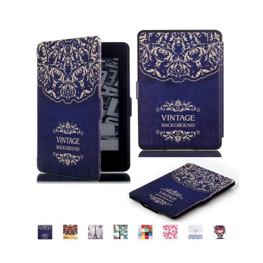 Holberg Amazon Kindle Paperwhite Älykäs Nahkakotelo Mandala Kukka