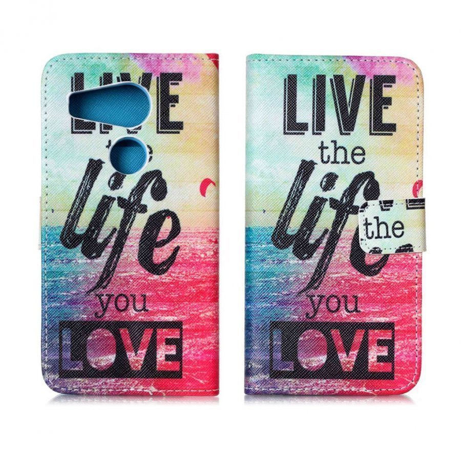 Holberg Google Nexus 5x Nahkakotelo Elä Elämääsi Jota Rakastat