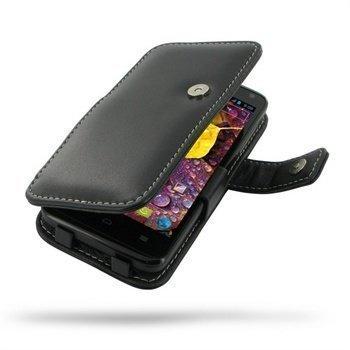 Huawei Ascend D quad XL Ascend D1 quad XL PDair Leather Case 3BHWDEB41 Musta