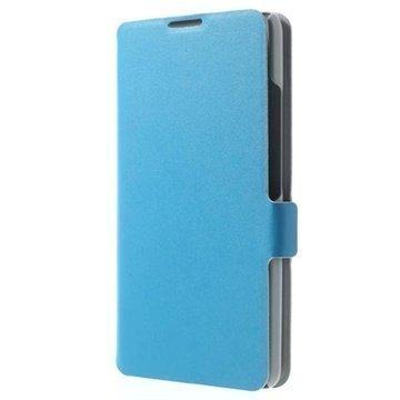 Huawei Ascend Mate2 4G Doormoon Wallet Nahkakotelo Sininen