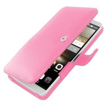 Huawei Ascend Mate7 PDair Leather Case 3JHWM7BX1 Vaaleanpunainen