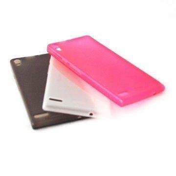 Huawei Ascend P6 Konkis TPU-Kuorisarja 3in1 Musta / Valkoinen / Pinkki
