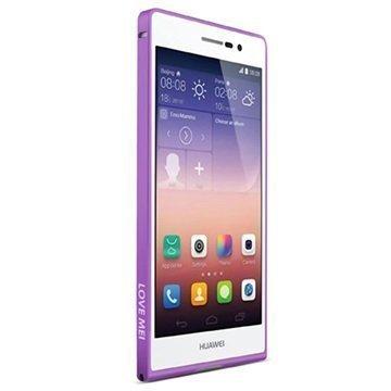 Huawei Ascend P7 Love Mei Alumiinipuskuri Violetti