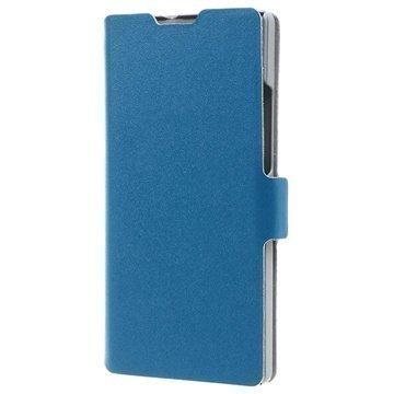 Huawei Ascend P7 P7 Sapphire Edition Doormoon Wallet Nahkakotelo Sininen