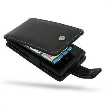 Huawei Ascend W1 PDair Leather Case 3BHWAWF41 Musta