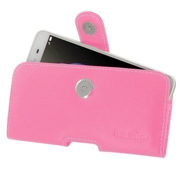 Huawei Enjoy 5s PDair Vaakasuuntainen Nahkakotelo Pinkki