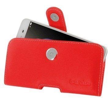 Huawei Enjoy 5s PDair Vaakasuuntainen Nahkakotelo Punainen
