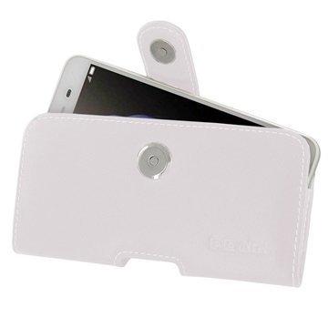 Huawei Enjoy 5s PDair Vaakasuuntainen Nahkakotelo Valkoinen