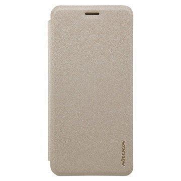 Huawei Enjoy 6 Nillkin Sparkle Läppäkotelo Kulta