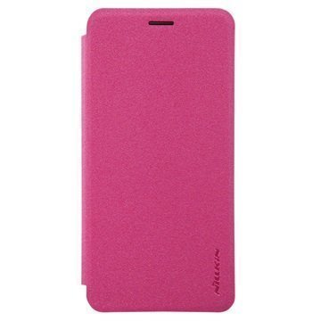 Huawei Enjoy 6 Nillkin Sparkle Läppäkotelo Kuuma Pinkki