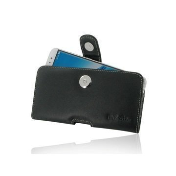 Huawei G9 Plus PDair Vaakasuuntainen Nahkakotelo Musta