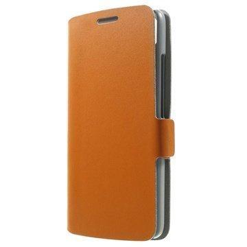 Huawei Honor 4 Play Doormoon Nahkainen Lompakkokotelo Oranssi