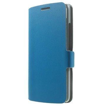 Huawei Honor 4 Play Doormoon Nahkainen Lompakkokotelo Sininen