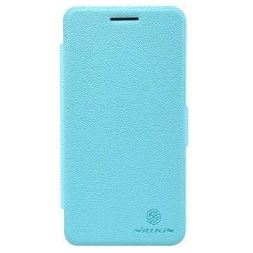 Huawei Honor 4 Play Nillkin Fresh Sarjan Nahkainen Läppäkotelo Sininen