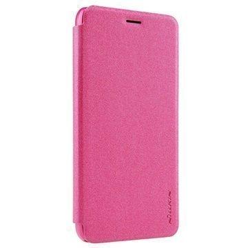 Huawei Honor 4A Nillkin Sparkle Series Läppäkotelo Kuuma Pinkki
