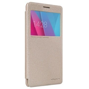 Huawei Honor 5X Nillkin Sparkle Series Smart View Läppäkotelo Kulta