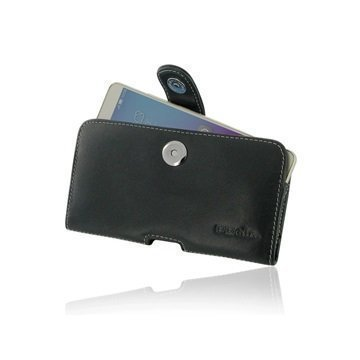 Huawei Honor 5X PDair Vaakasuuntainen Nahkakotelo Musta