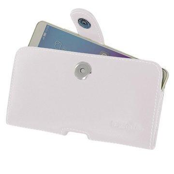 Huawei Honor 5X PDair Vaakasuuntainen Nahkakotelo Valkoinen