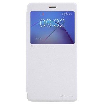 Huawei Honor 6X (2016) Nillkin Sparkle ikkunallinen läppäkotelo Valkoinen