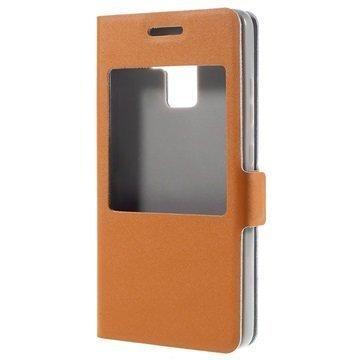 Huawei Honor 7 Doormoon View Flip Nahkakotelo Oranssi