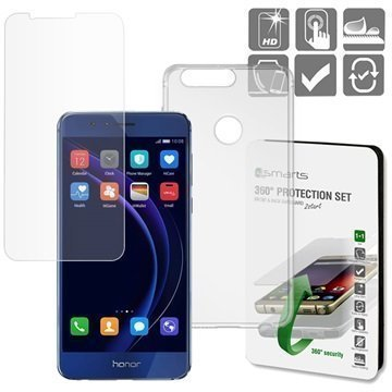 Huawei Honor 8 4smarts 360 Suojaussetti Läpinäkyvä