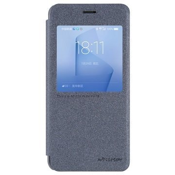 Huawei Honor 8 Nillkin Sparkle View Flip Case Black