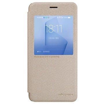 Huawei Honor 8 Nillkin Sparkle View Flip Case Gold