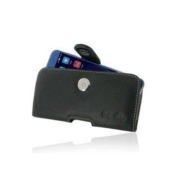 Huawei Honor 8 PDair Vaakasuuntainen Nahkakotelo Musta