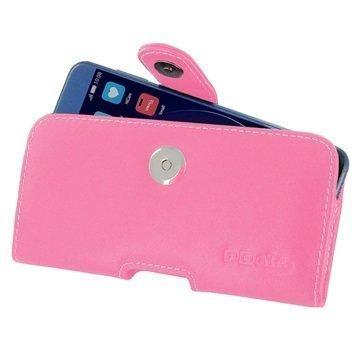 Huawei Honor 8 PDair Vaakasuuntainen Nahkakotelo Pinkki