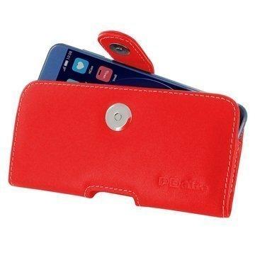 Huawei Honor 8 PDair Vaakasuuntainen Nahkakotelo Punainen