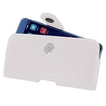 Huawei Honor 8 PDair Vaakasuuntainen Nahkakotelo Valkoinen