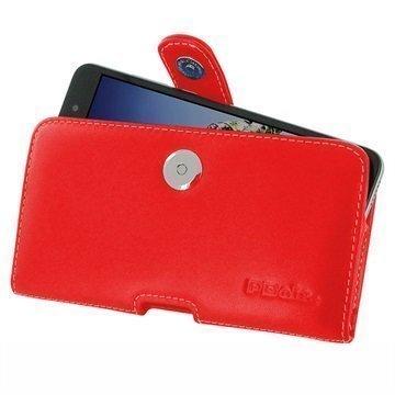 Huawei Honor Holly 3 Honor 5A PDair Vaakasuuntainen Nahkakotelo Punainen