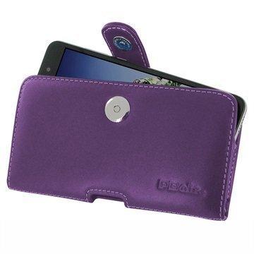Huawei Honor Holly 3 Honor 5A PDair Vaakasuuntainen Nahkakotelo Violetti